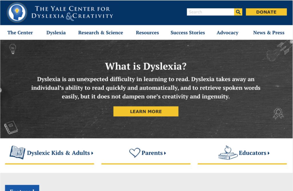 Yale: Se hela bilden av dyslexi